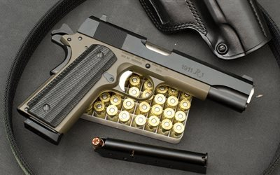 remington 1911, us armed, semi-automatic, gun, colt 1911