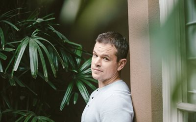 2016, celebrity, male, newspaper, photo, matt damon, actor, hollywood
