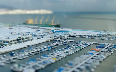 yacht club, yachts, tilt shift, foto, pier, marina, tilt-shift, effetto