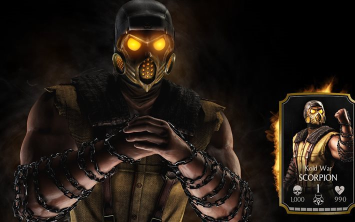 mask, character, scorpion, fighting game, poster