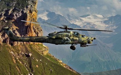 mi 28n, combat, helicopter, mountains, russian air force, night hunter