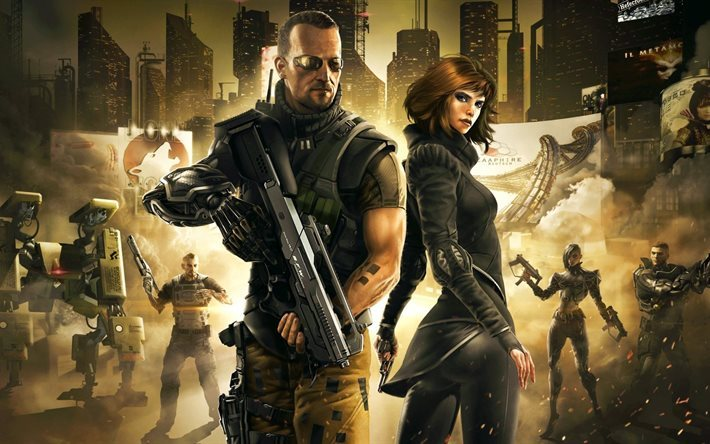 fall, poster, video game, deus ex, games, plot