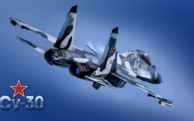 su-30, russian air force, fighter, multipurpose, generation 4, flanker c