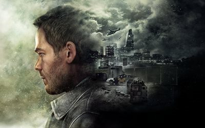 quantum break, 2016, game, shooter, poster, xbox one