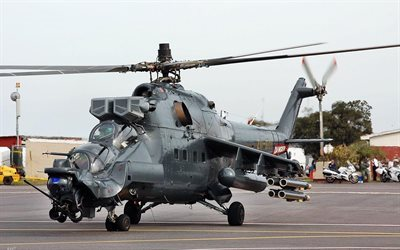 military, mi 24, helicopter, super hind, mi-24, airfield, aircraft, weapons