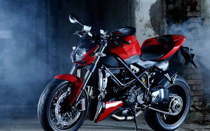 red, ducati, ducati streetfighter, street fighter, motorcycle
