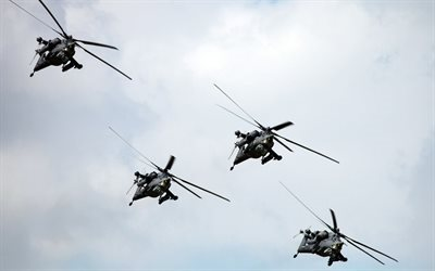 holding, helicopter, attack helicopter, night hunter, mi-28n, russian helicopters