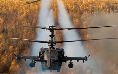 russian air force, ka-52, reconnaissance and attack helicopter, alligator, hokum b