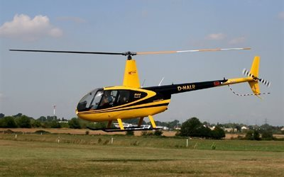 multipurpose, robinson, helicopter, r44, easy, yellow, flight, civil aviation, robinson helicopter