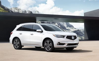 2017, yard, acura, white, mdx, crossover