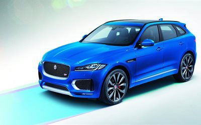 jaguar, blue, suv, first edition, f-pace, 2017, studio