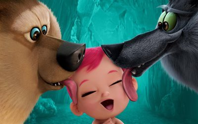 baby, cartoon, 2016, storks, wolf, pack, usa