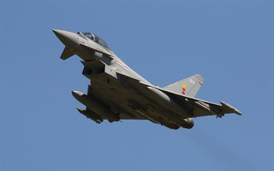 Eurofighter Typhoon, multipurpose fighter, military aircraft, Royal Air Force, Eurofighter GmbH