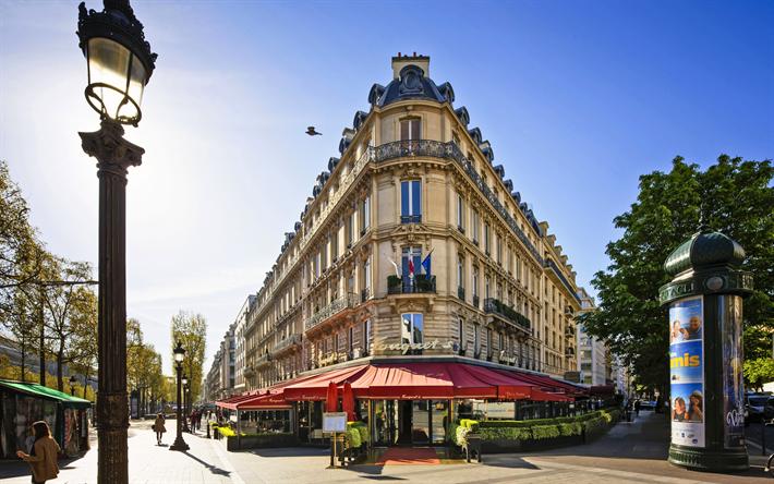 Descargar Fondos De Pantalla París 4k El Verano La Calle