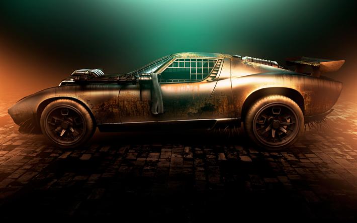 Download Wallpapers 4k Lamborghini Miura Supercars Tuning Mad