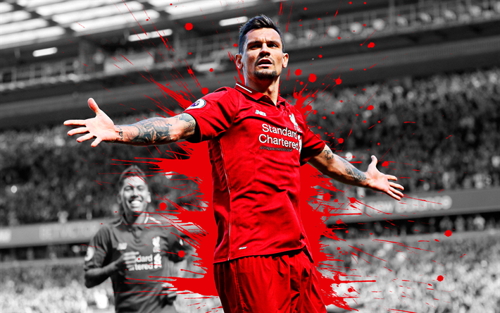 Download Wallpapers Dejan Lovren, 4k, Art, Liverpool FC
