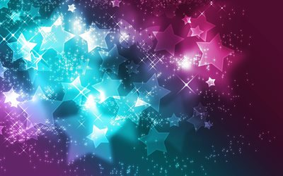 colorful stars background, stars patterns, background with stars, colorful backgrounds, stars textures, abstract backgrounds