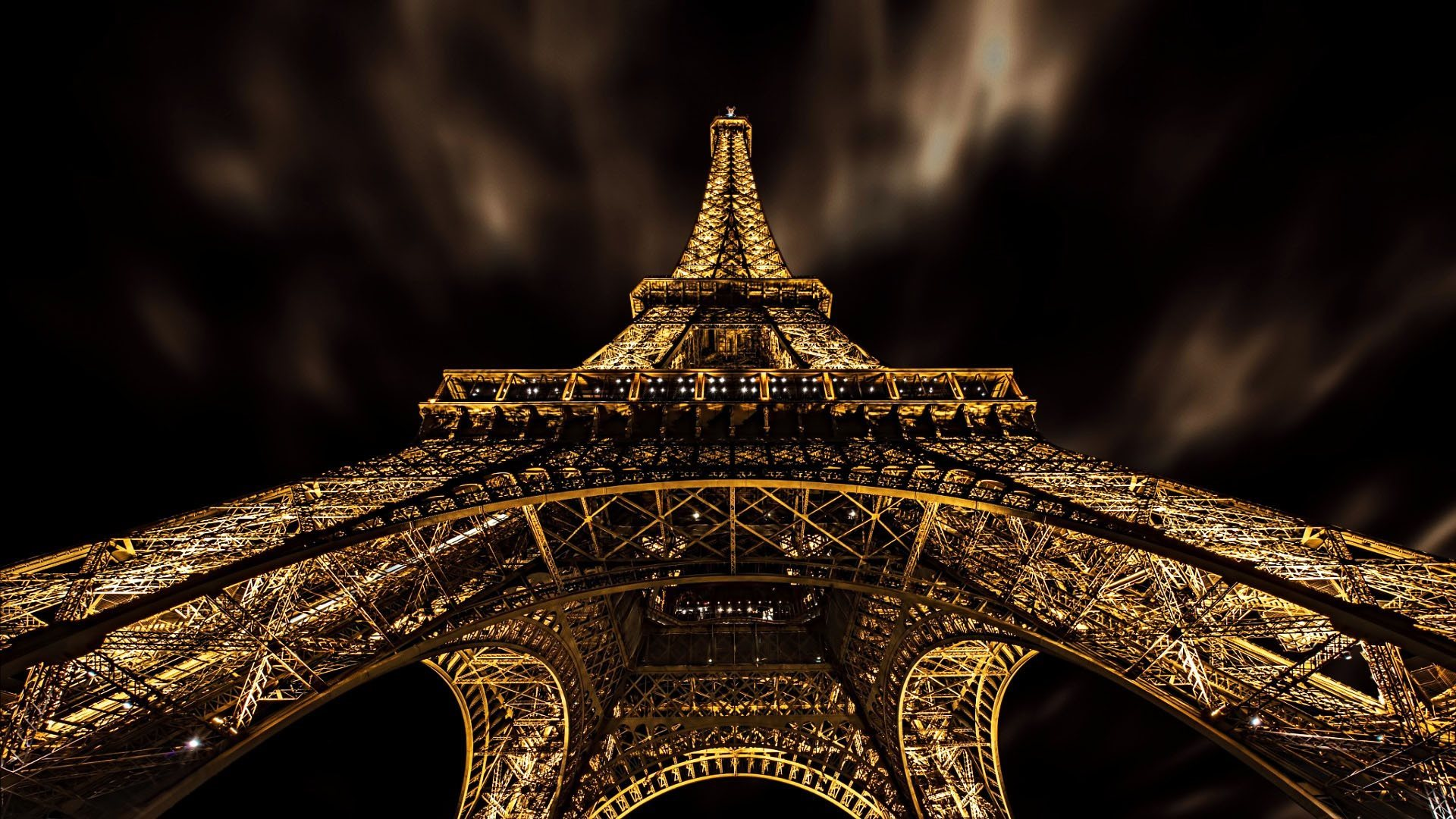 download wallpapers paris night, eiffel tower, lights, night sky