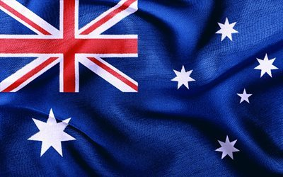 Australia, Australian flag, silk flag, flags of the world