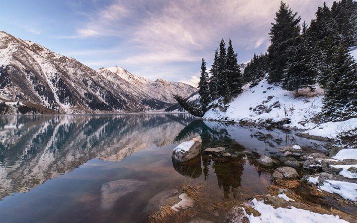 Scarica sfondi grande almaty lago inverno montagna neve for Sfondi desktop inverno montagna