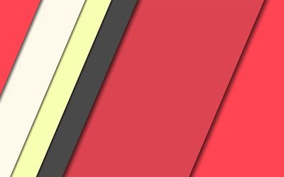 red abstraction, geometric background, lines, geometry, material design