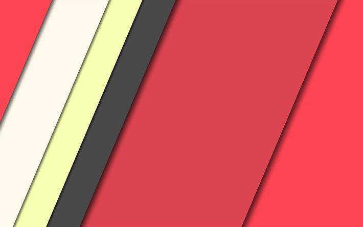 Scarica sfondi rosso astrazione geometrica sfondo linee for Sfondi material design