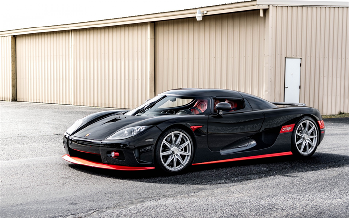 Koenigsegg CCXR, Black Hypercar, Sports Coupe, Black CCXR, Tuning
