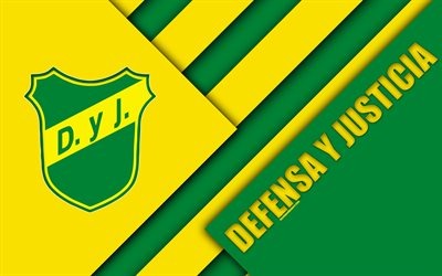 Defensa y Justicia, Argentine football club, 4k, material design, yellow green abstraction, Buenos Aires, Florencio-Varela, Argentina, football, Argentine Superleague, First Division