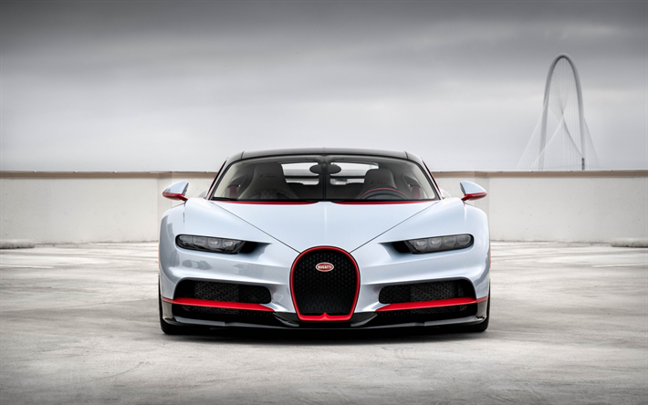 Download Wallpapers Bugatti Chiron, 2018, Front View, 4k