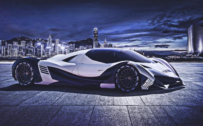 Download Wallpapers Devel Sixteen 4k Hypercars 2019 Cars