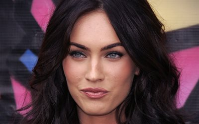 Megan Fox, American actress, portrait, beautiful eyes, american fashion model