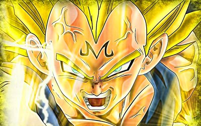Golden Goku, Vegeta, SSJ3 Goku, kuvitus, Dragon Ball Super, manga, DBZ, Goku Super Saiyan 3, DBS, Son Goku