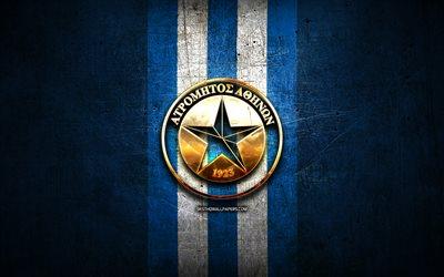 Download wallpapers Atromitos FC, golden logo, Super ...