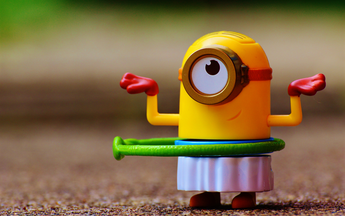 download wallpapers 4k minion creative toys minions