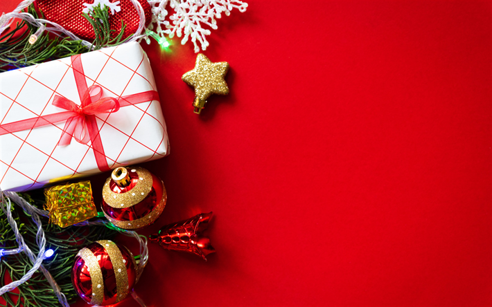 Red Christmas Background.Download Wallpapers Christmas Red Christmas Background