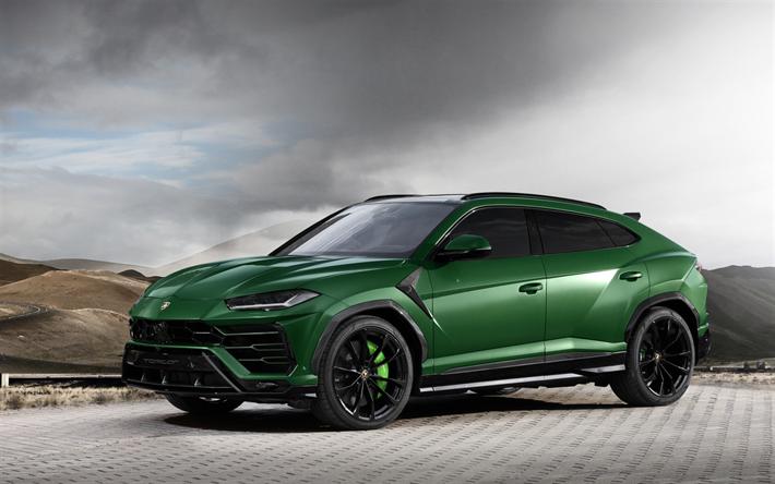 Download Wallpapers Lamborghini Urus 2018 Topcar Tuning Sports