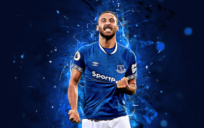 Download Wallpapers Cenk Tosun, Striker, Abstract Art
