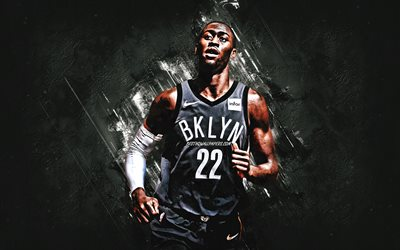 Caris LeVert, Brooklyn Nets, NBA, la National Basketball Association, giocatore di basket americano, in pietra grigia, sfondo, USA, basket