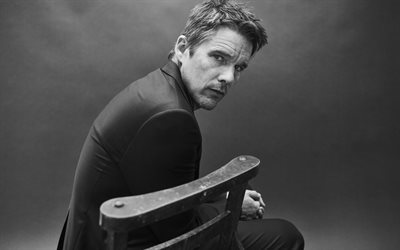 Ethan Hawke, American actor, portrait, man in suit