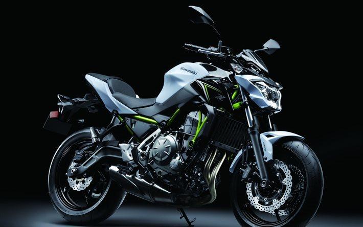Herunterladen Hintergrundbild Kawasaki Z650 4k 2017