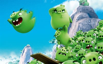 Angry Birds, 2016, Bad Piggies, green Birds, Rovio, animatem movie