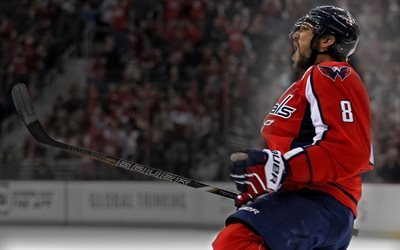 Alex Ovechkin, le hockey, des Capitals de Washington, de la LNH, le joueur de hockey russe