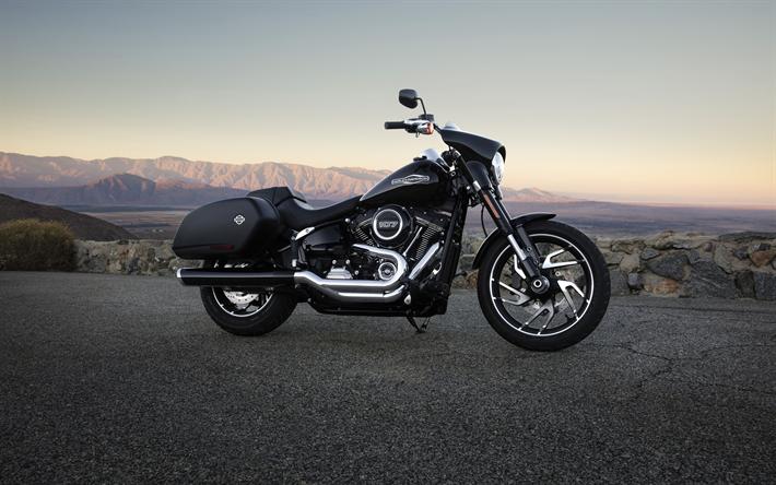 Download Wallpapers Harley-Davidson Street Glide, 4k, 2018