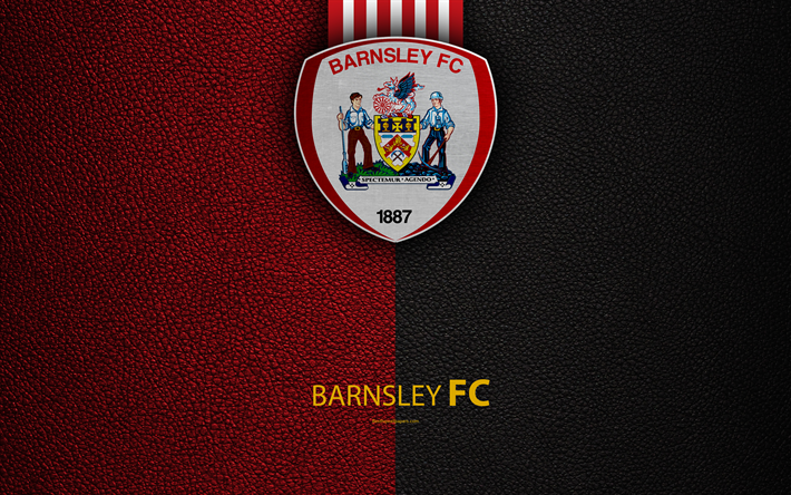 Download Wallpapers Barnsley Fc 4k English Football Club Logo Football League Championship Leather Texture Barnsley Uk Efl Football Second English Division For Desktop Free Pictures For Desktop Free