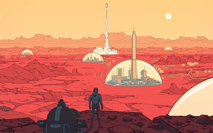 Download wallpapers Surviving Mars, 4k, 2018 games, poster ...