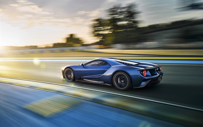 Download Wallpapers 4k Ford Gt Raceway 2018 Cars Sportscars