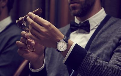 businessmen, time concepts, business concepts, swiss watch, Vacheron Constantin