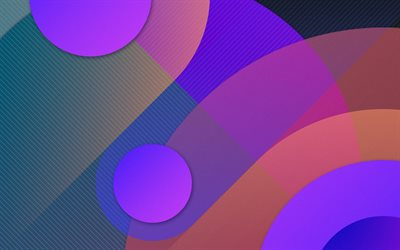 material design, pink and violet, circles, geometric shapes, lollipop, triangles, creative, strips, geometry, purple background