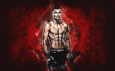 Raulian Paiva, UFC, MMA, brazilian fighter, red stone background, Ultimate Fighting Championship