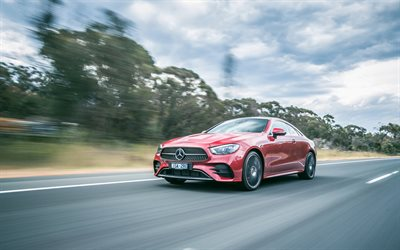 Mercedes-Benz E-class Coupe, 4k, road, 2020 cars, AU-spec, C238, german cars, Mercedes